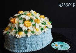 A low-carb floral buttercream cake for a type 1 diabetic