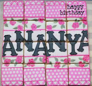 A pretty cookie puzzle gift for a sweet girl who turned 16