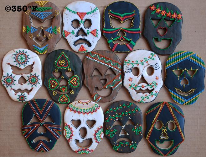 Day of the Dead mask cookies