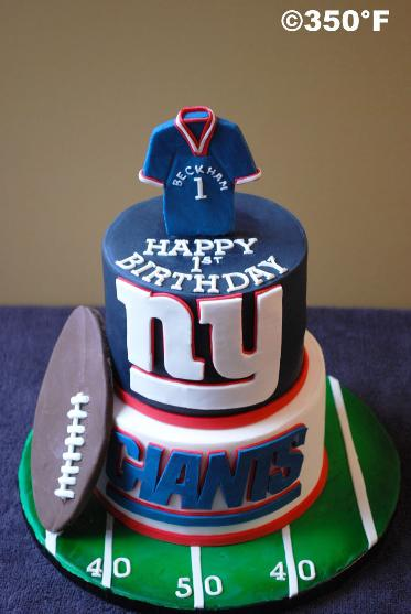 A 1st b'day cake for a future MVP in American football