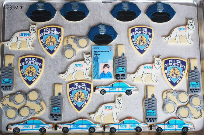 NYPD cookies for a kid's birthday party at school