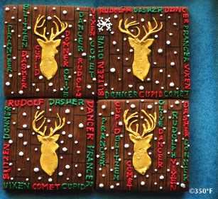 Rudolf and his friends look lovely on these holiday cookies that kids will love!