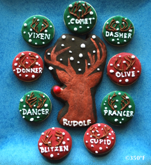 This Rudolf and friends cookie gift set are sure to make a great gift for little elves this holiday season