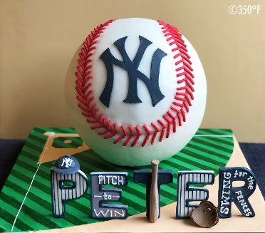 A baseball cake for a NY Giant's ardent fan's birthday