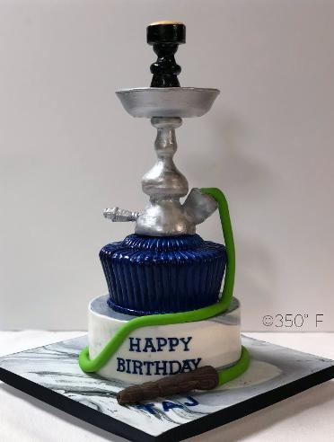 A hookah cake for a birthday party