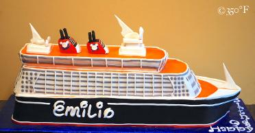 A Disney cruise cake for a 10th birthday party.