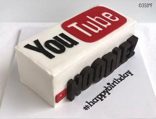 A specialty 11th birthday cake for an avid YouTube