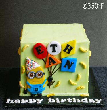 Minion Dave being Ethan's favorite is featured on his 6th birthday cake.