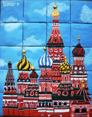 St Basil Cathedral cookie puzzle - a beautiful way to send holiday greetings to friends and loved ones
