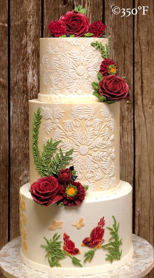 Nikah / wedding cake in buttercream