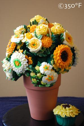 A bouquet with a variety of yellow flowers created to cheer up a dear one